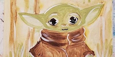 3/22 $22 Baby Yoda @ Paint Like ME Studio