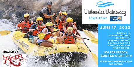 Whitewater Wednesday 2020 tickets