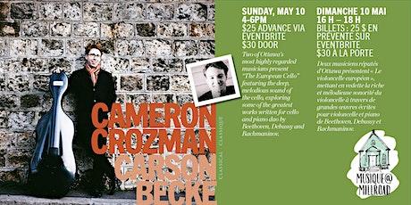 Cameron Crozman and Carson Becke tickets