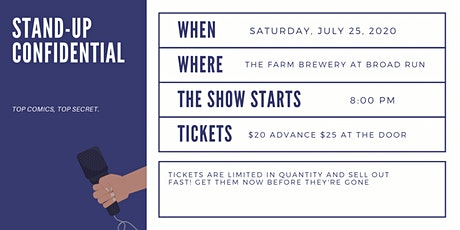 Stand up Confidential at The Farm Brewery at Broad Run tickets