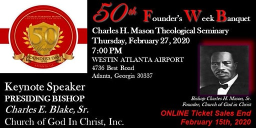 50th Anniversary Celebration Banquet for Charles H. Mason Theological Seminary