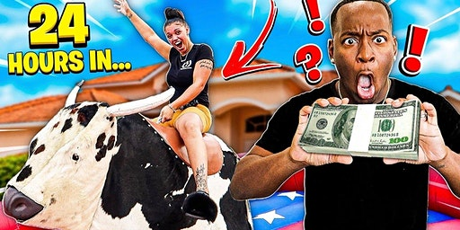 Ride the Mechanical Bull for free cash prizes!