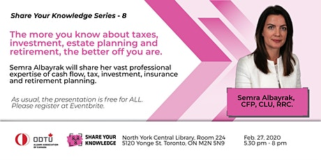 OAAC Share Your Knowledge Series #8: Financial Planning tickets