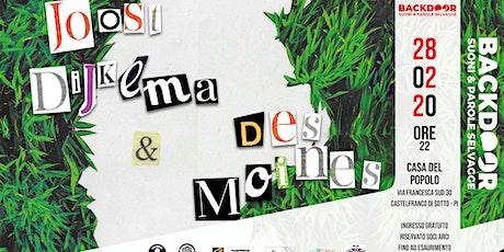Joost Dijkema & Des Moines in concerto biglietti