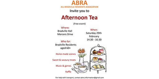 Afternoon Tea for the over 60s with the All Bradville Residents Association