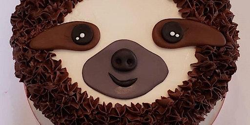 Homeschool Sloth Cake: Hamilton Location