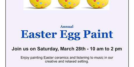 Annual Easter Egg Ceramic Paint tickets