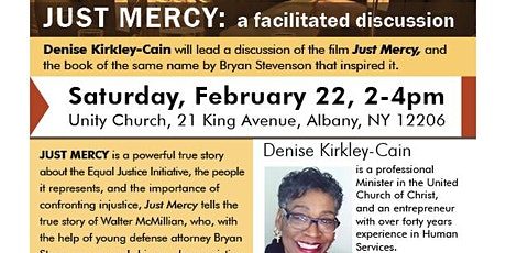 A facilitated discussion on the film Just Mercy tickets