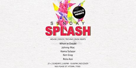 Sunday Splash tickets