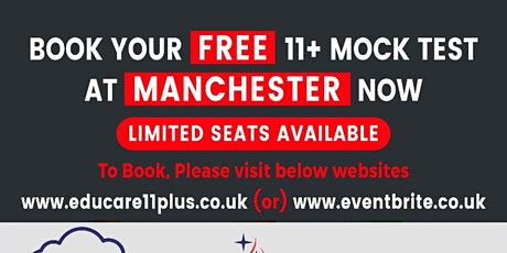 Free 11+ Mock Test @ Manchester - 15 March 2020 tickets