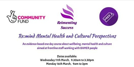 Re:mind Mental Health and Cultural Perspectives tickets