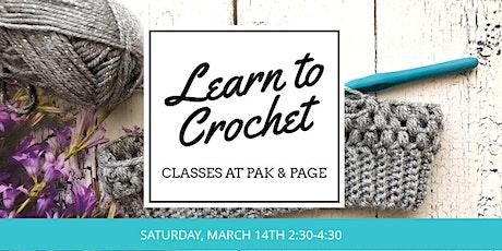 Learn to Crochet - Beginning Crochet Class tickets
