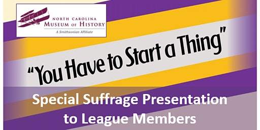 You Have To Start a Thing: Special Presentation to League Members