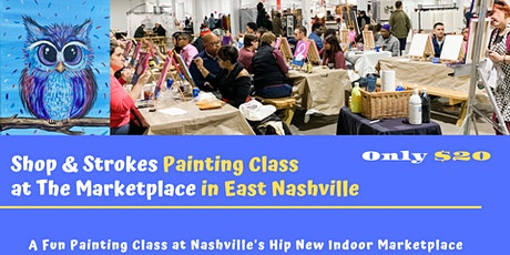 Shop and Strokes Painting Class: A Happy Hoot tickets
