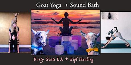 Goat Yoga + Sound Bath Experience tickets