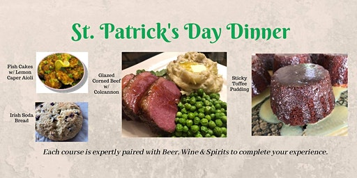 Traditional Irish Dinner with Wine, Spirits & Beer Pairings