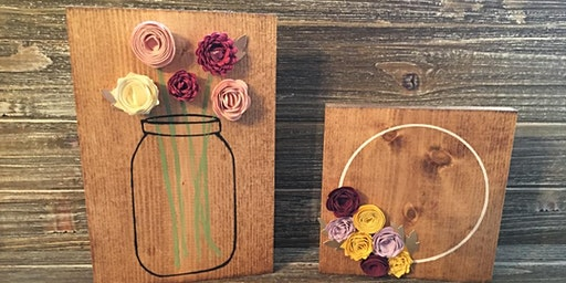 From the Field PGH Mason Jar and Wreath board at Harmonie Laden