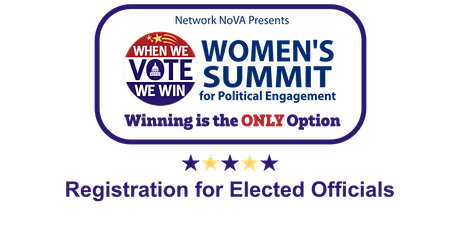 Women's Summit 2020 - Elected Officials Registration tickets