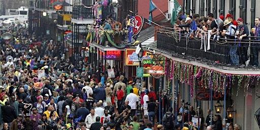 Bourbon Street Mardi Gras Balcony 416  Bourbon