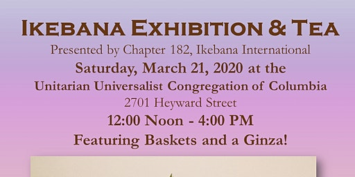 2020 Annual Ikebana Exhibition & Tea