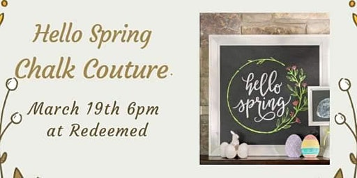 Hello Spring-Chalk Couture