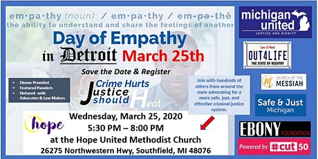 Detroit Day of Empathy ~ Criminal Justice Healing in the Community tickets