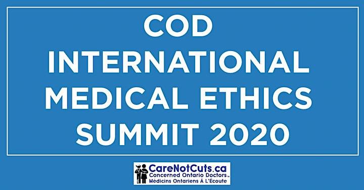 COD International Medical Ethics Summit 2020 image