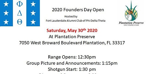 2020 Founders Day Golf Tournament and Dinner