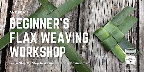 Andrea's Beginners Flax weaving workshop tickets
