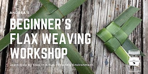 Andrea's Beginners Flax weaving workshop