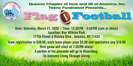 Jack & Jill Queens Cosmopolitan Teens Flag Football Fundraiser tickets