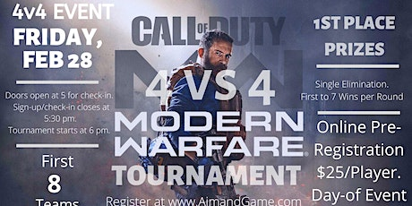 Call of Duty 4v4 Tournament tickets
