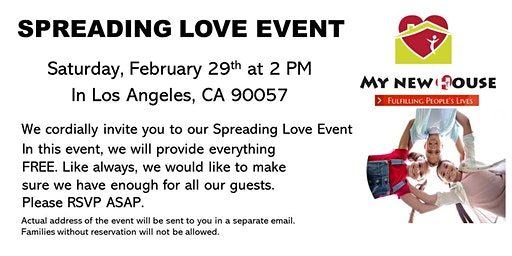 Spread LOVE - Everything Free Family Event