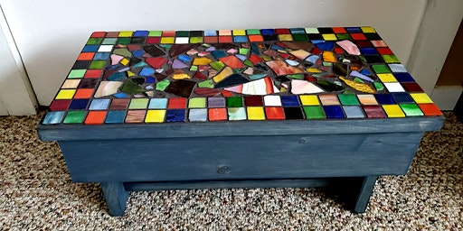 Mosaic Garden Bench Or Accent Table