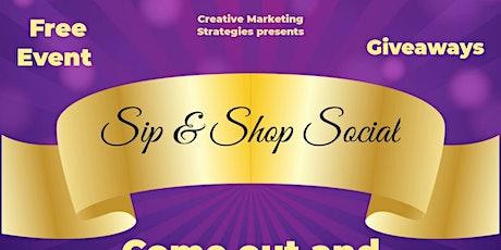 2nd Annual Sip & Shop Social tickets