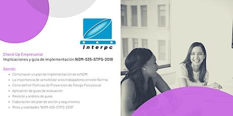 Check Up Empresarial - Implicaciones y guía de implementación NOM-035-STPS-2018 boletos