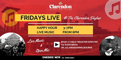 Friday Live Music @ The Clarendon Rooftop tickets