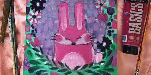 Easter/Spring Bunny Acrylic Painting Workshop March 28 1:30pm