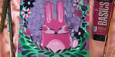 Easter/Spring Bunny Acrylic Painting Workshop April 11 1:30pm tickets