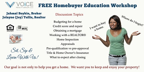 Homebuyer Workshop with Voice Realty Group tickets