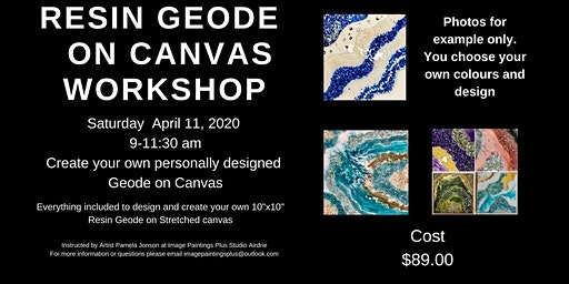 Resin Geode on Canvas Workshop