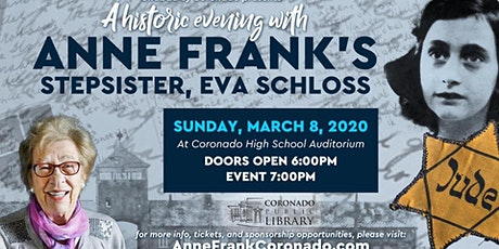 A Historic Evening with Anne Frank's Stepsister, Eva Schloss tickets