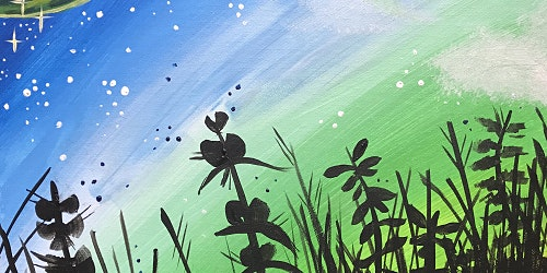 Moonlit Grass- Paint and Sip