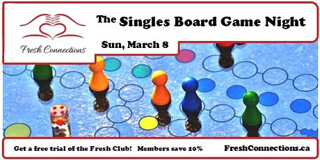 The Singles Board Game Night tickets