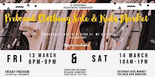 Takarunga Playcentre Clothing Sale