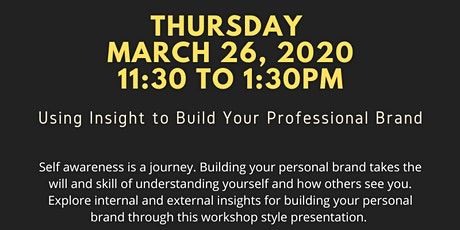 Using Insight to Build Your Personal Brand tickets