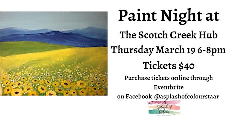 Paint Night at The Scotch Creek Hub tickets