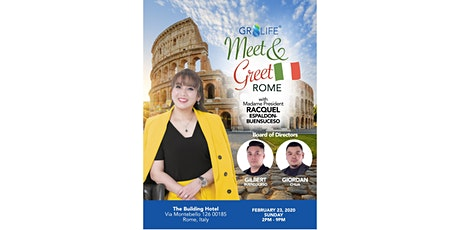 Meet and Greet in Rome with our President | Learn about Gr8ife Business biglietti