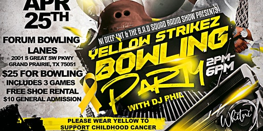 Yellow Strikez Bowling Party