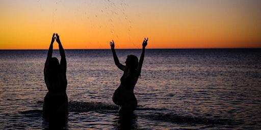 Women in the water shoot.